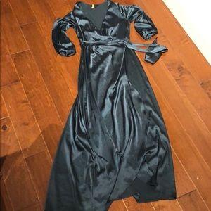 Dresses & Skirts - Satin Hi/low wrap dress